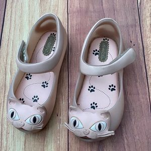 Mini Melissa cat pink girl shoes
